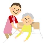 ベットに寝ているおばあちゃん