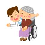 車椅子に座っているおばあちゃん